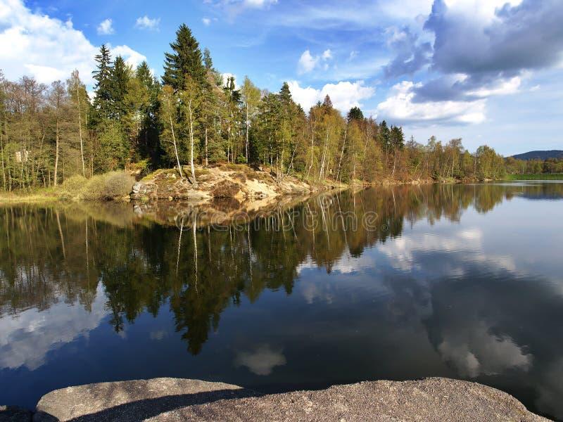 Λίμνη Mseno, NAD Nisou, Δημοκρατία της Τσεχίας Jablonec στοκ φωτογραφία με δικαίωμα ελεύθερης χρήσης
