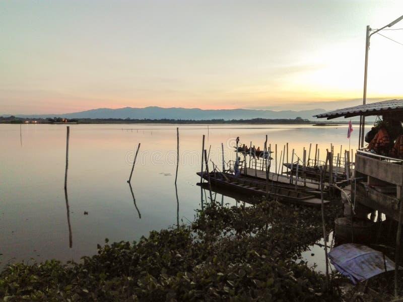 Λίμνη Phayao στην Ταϊλάνδη στοκ φωτογραφία