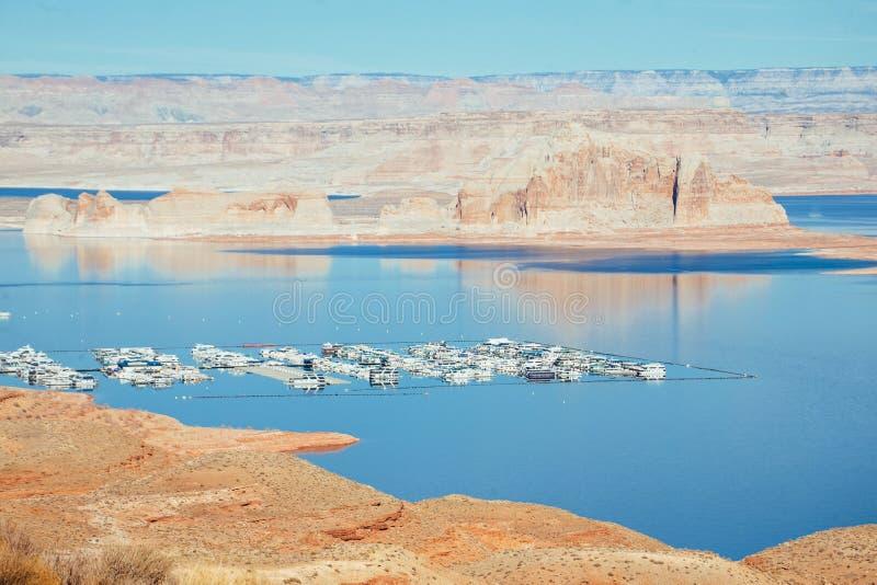 Λίμνη Powell και μαρίνα Wahweap στοκ εικόνες με δικαίωμα ελεύθερης χρήσης