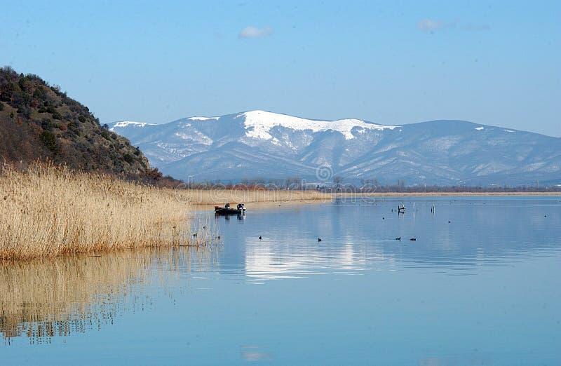 Λίμνη Prespa, Μακεδονία στοκ φωτογραφία