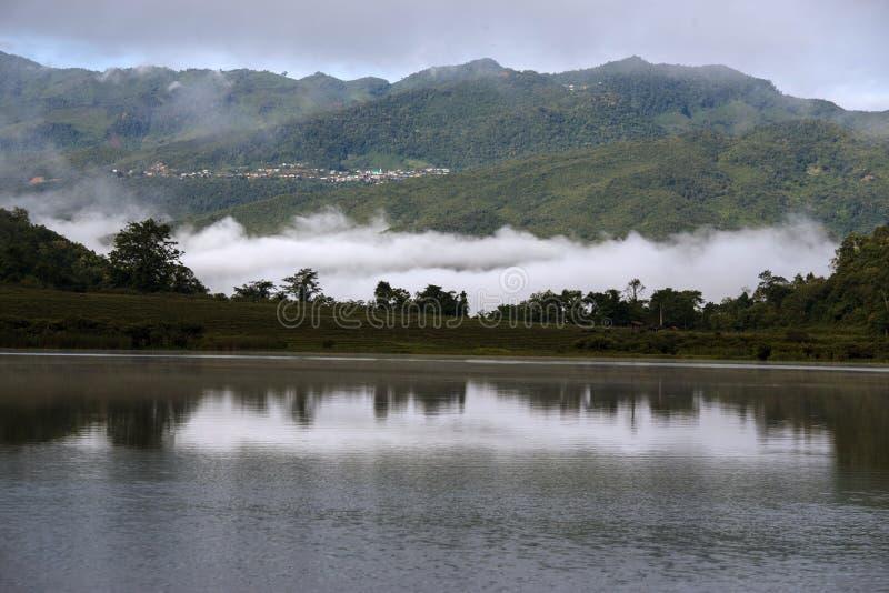 Λίμνη Rhi, το Μιανμάρ (Βιρμανία) στοκ εικόνα με δικαίωμα ελεύθερης χρήσης