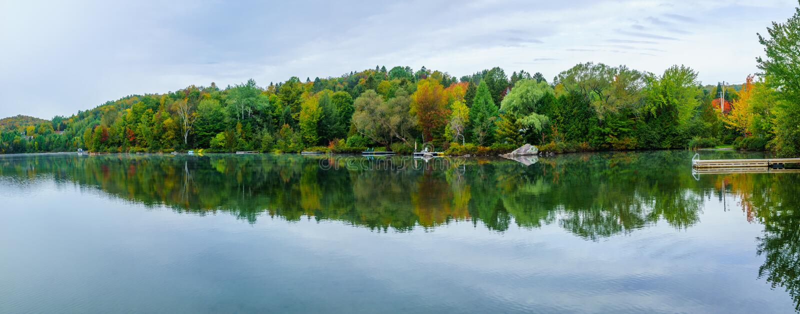 Λίμνη Rond λάκκας, στην sainte-Adele στοκ φωτογραφία με δικαίωμα ελεύθερης χρήσης