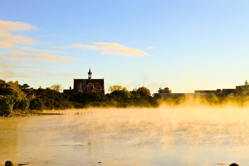 Λίμνη Rotomahana το πρωί στοκ φωτογραφία με δικαίωμα ελεύθερης χρήσης