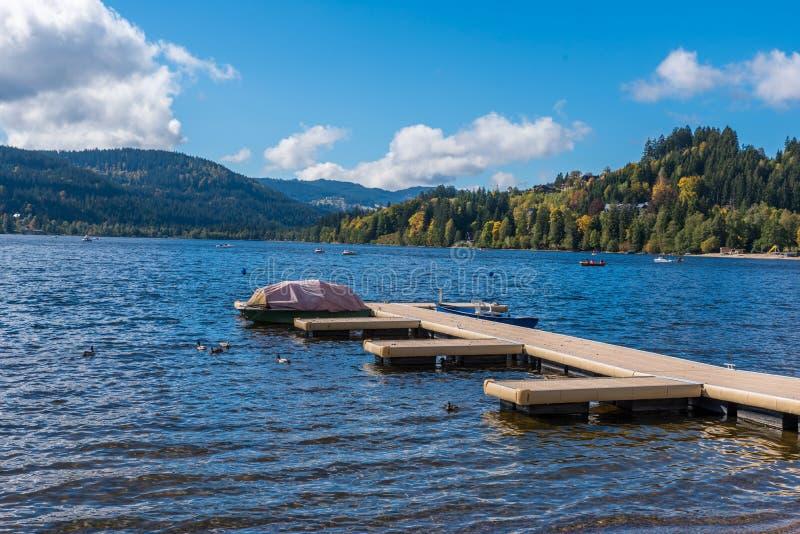 Λίμνη Schluchsee στον πιό blackforest στοκ φωτογραφίες