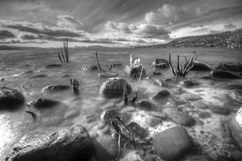 Λίμνη Tahoe από το χωριό κλίσεων στοκ εικόνα