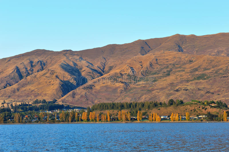 Λίμνη Wanaka στη Νέα Ζηλανδία στοκ εικόνα