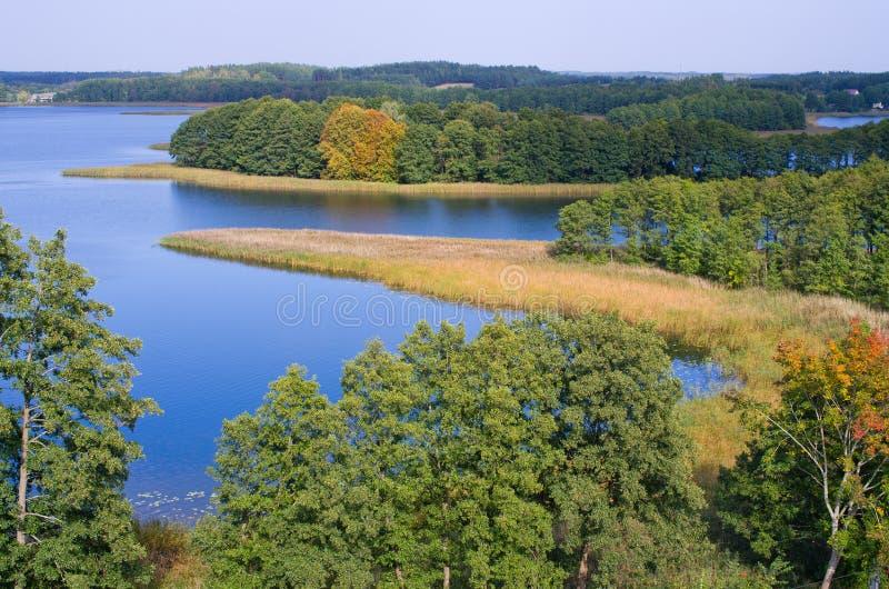 Λίμνη Wigry, Πολωνία στοκ φωτογραφία