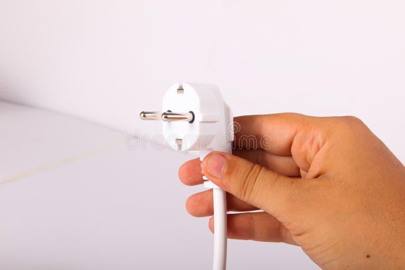 Λαβή ο ηλεκτρικός Jack χεριών στοκ εικόνα με δικαίωμα ελεύθερης χρήσης