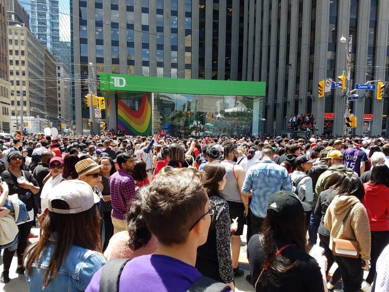 Λαβή των Toronto Raptors η παρέλαση νίκης τους στοκ εικόνες