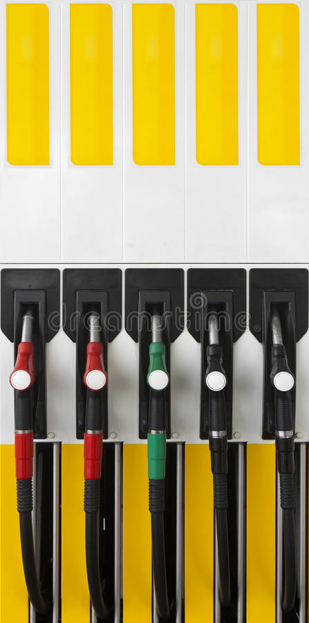Λαβή υλικών πληρώσεως αντλιών αερίου στοκ φωτογραφίες με δικαίωμα ελεύθερης χρήσης