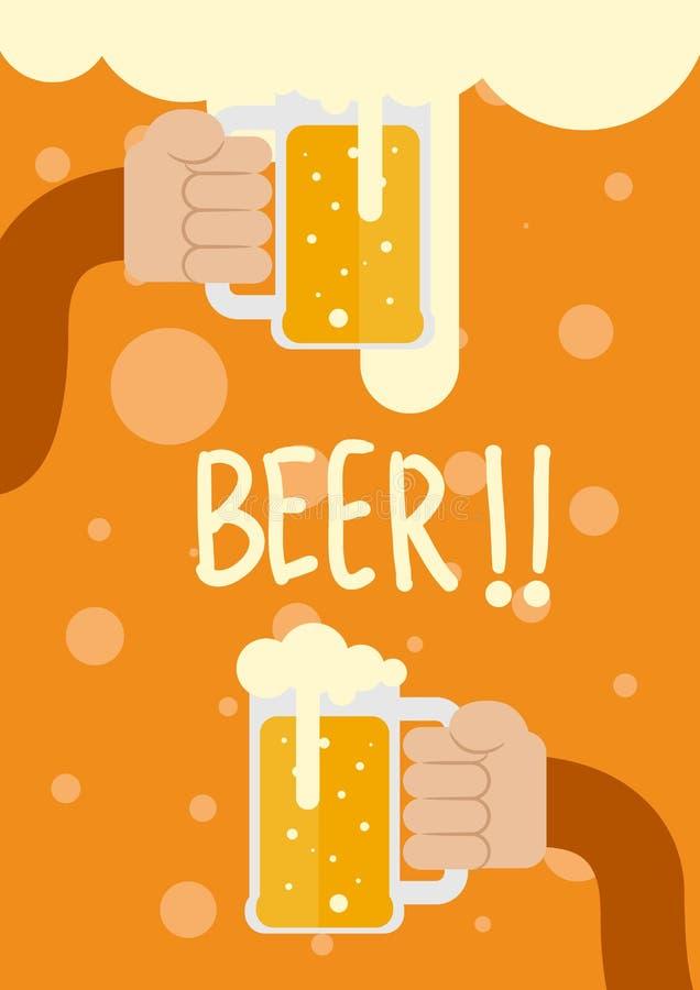 Λαβή χεριών η μπύρα ελεύθερη απεικόνιση δικαιώματος