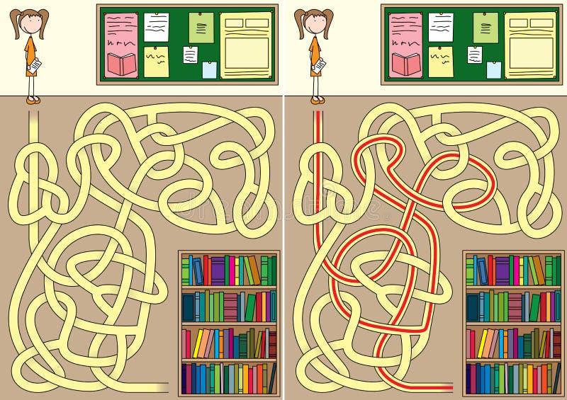 Λαβύρινθος βιβλιοθήκης απεικόνιση αποθεμάτων