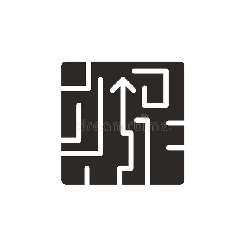 Λαβύρινθος, γρίφος, διανυσματικό εικονίδιο στρατηγικής r Λαβύρινθος, γρίφος, διανυσματικό εικονίδιο στρατηγικής Χρηματοδότηση διανυσματική απεικόνιση