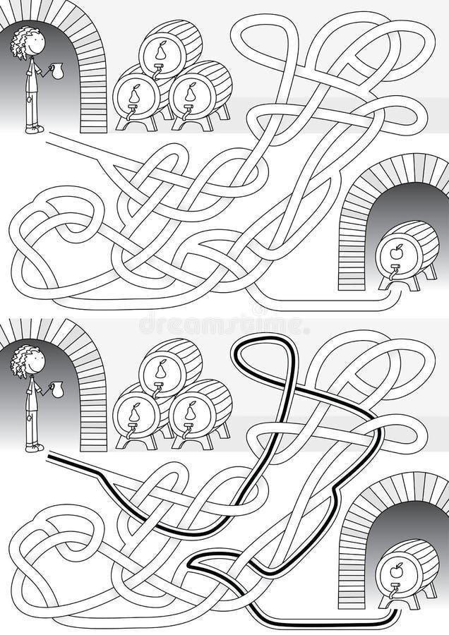 Λαβύρινθος κελαριών διανυσματική απεικόνιση