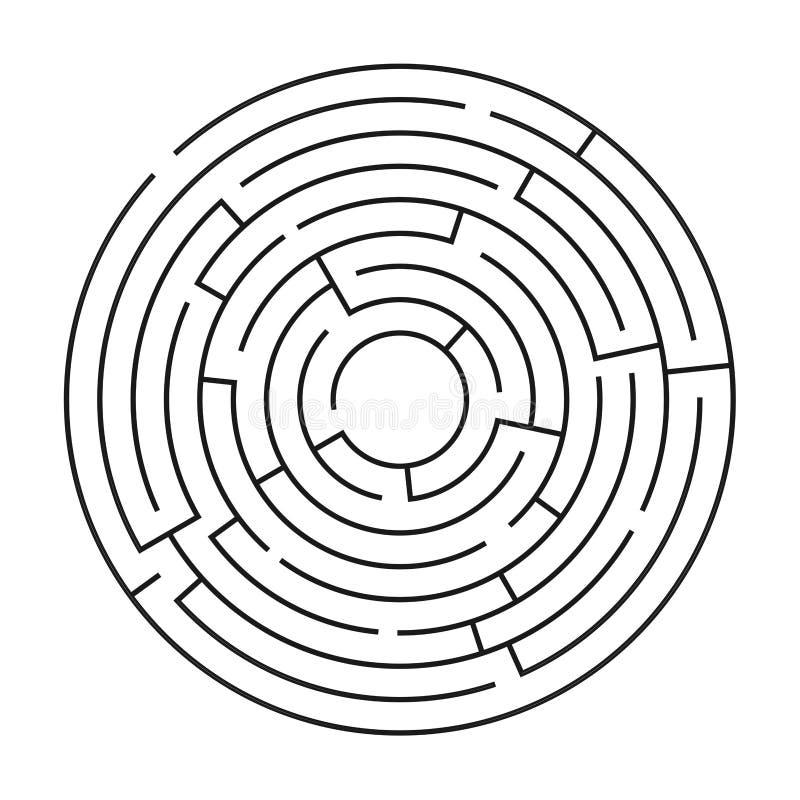 Λαβύρινθος/λαβύρινθος στο άσπρο υπόβαθρο απεικόνιση αποθεμάτων