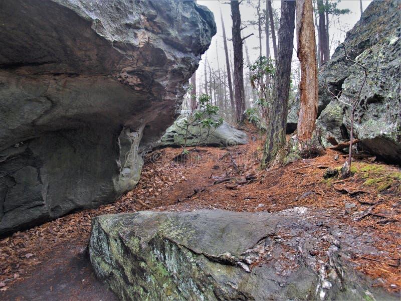 Λαβύρινθος των λίθων στην ένωση του κρατικού πάρκου βράχου στοκ φωτογραφία με δικαίωμα ελεύθερης χρήσης
