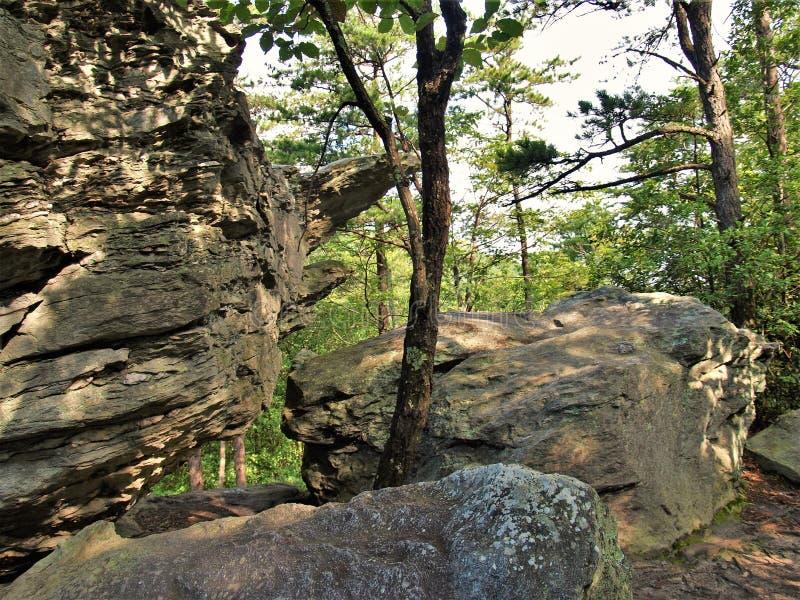 Λαβύρινθος των λίθων στην ένωση του κρατικού πάρκου βράχου στοκ εικόνες