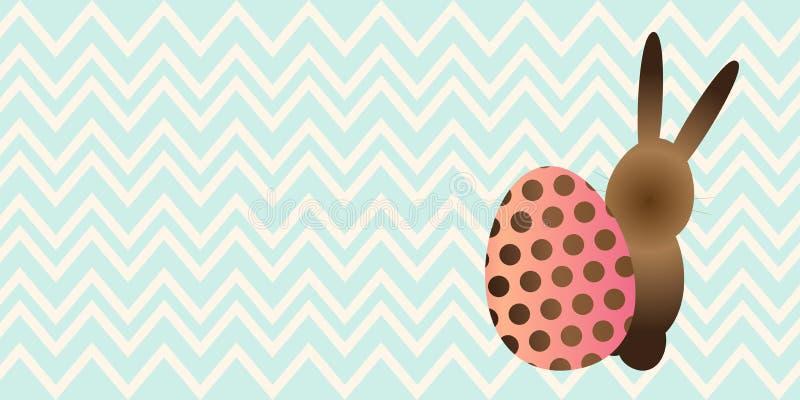 Λαγουδάκι Πάσχας και διανυσματική απεικόνιση αυγών ελεύθερη απεικόνιση δικαιώματος