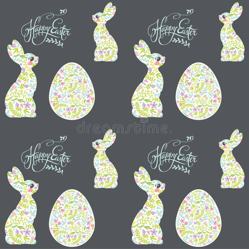 Λαγουδάκι Πάσχας και σχέδιο διακοπών αυγών στοκ φωτογραφίες
