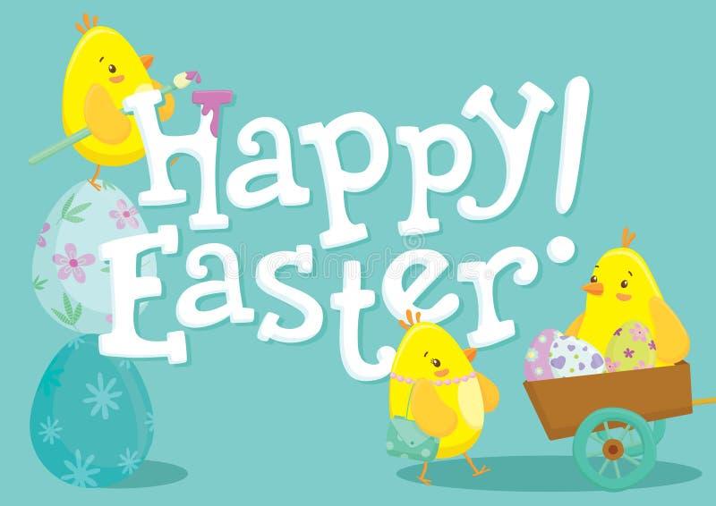 Λαγουδάκι Πάσχας και σχέδιο διακοπών αυγών στοκ εικόνες