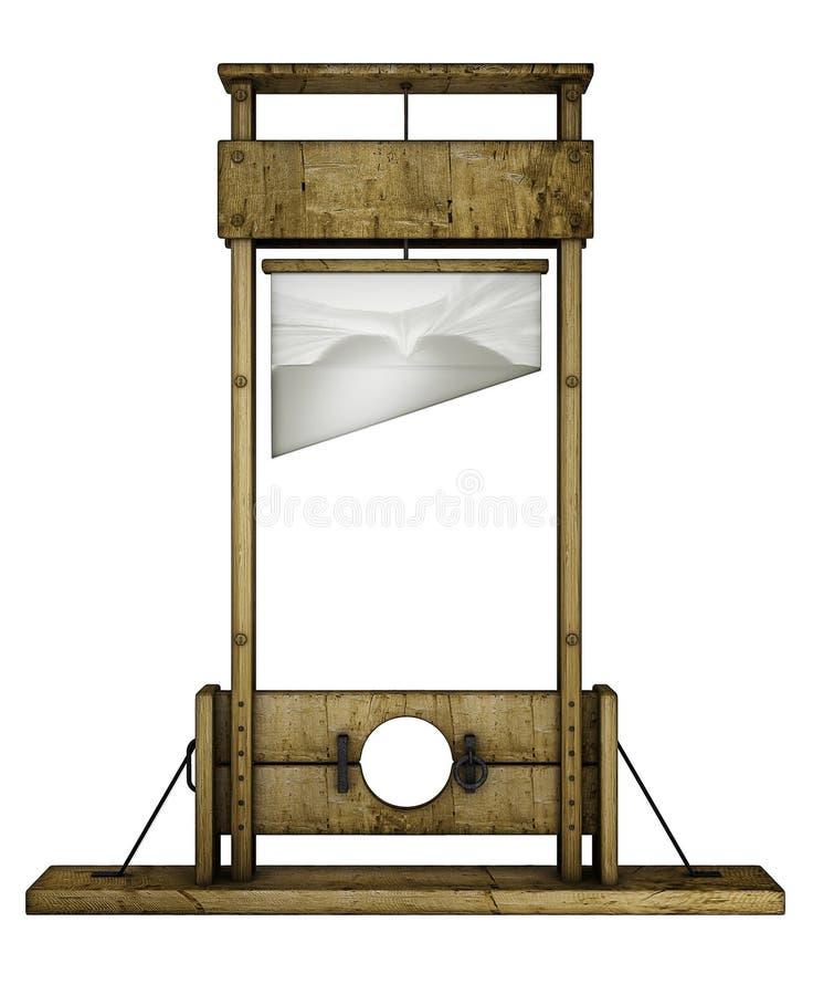 Λαιμητόμος (μπροστινή όψη) διανυσματική απεικόνιση