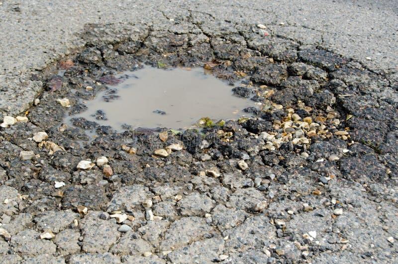 Λακκούβα στο δρόμο στοκ εικόνες με δικαίωμα ελεύθερης χρήσης