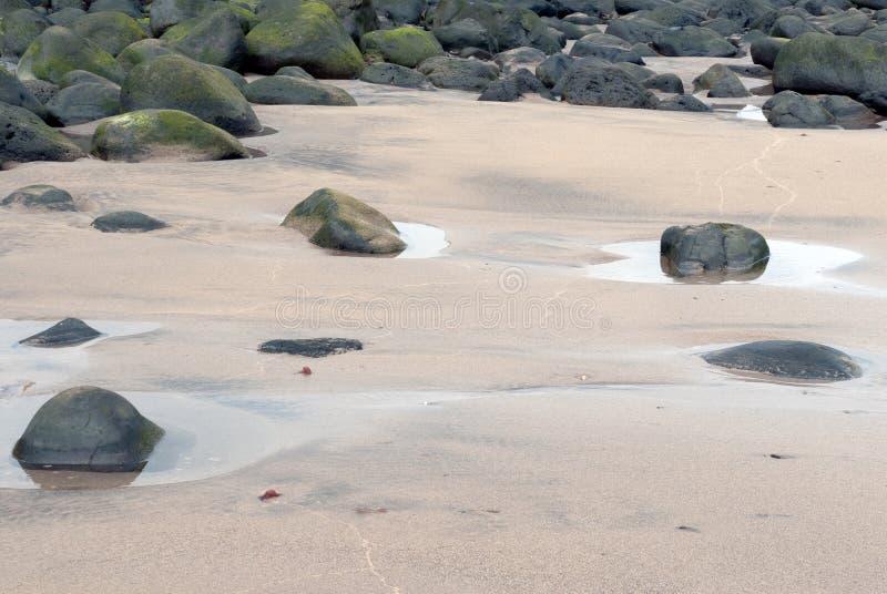 Λακκούβες στην παραλία στοκ φωτογραφίες με δικαίωμα ελεύθερης χρήσης