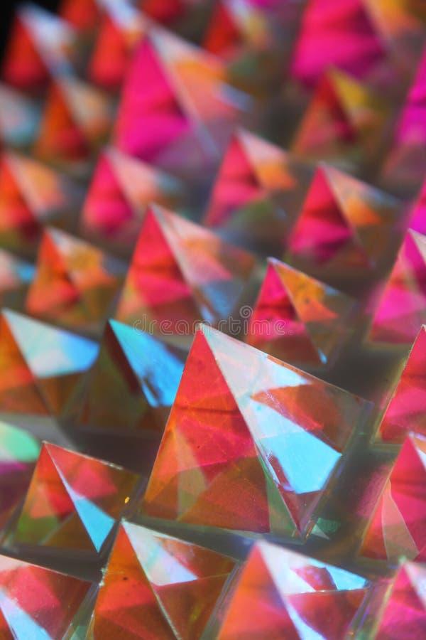 Λαμπερές πυραμίδες στοκ φωτογραφία