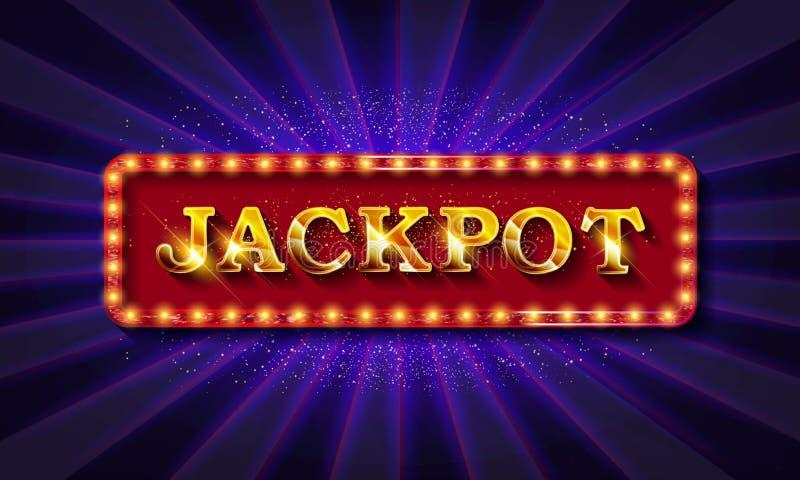 Λαμπερό σήμα παραίτησης Jackpot banner ελεύθερη απεικόνιση δικαιώματος