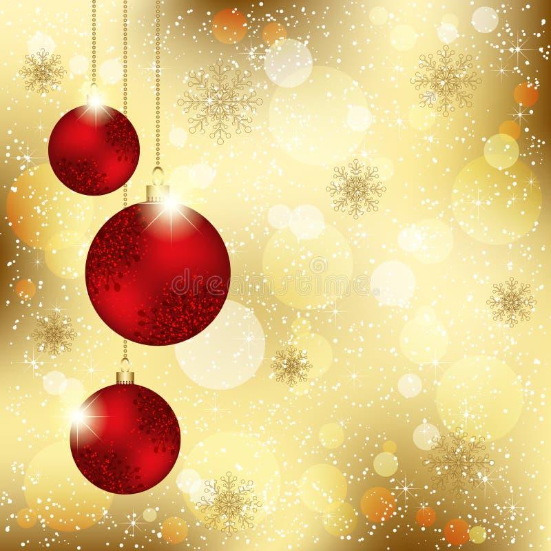 Λαμπιρίζοντας ανασκόπηση σφαιρών κρυστάλλου Χριστουγέννων διανυσματική απεικόνιση
