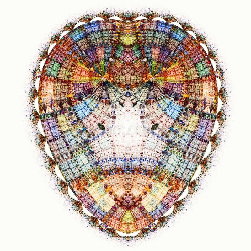 Λαμπιρίζοντας αυγό διαμαντιών Μικροσκοπικός κόσμος στο αυγό διανυσματική απεικόνιση