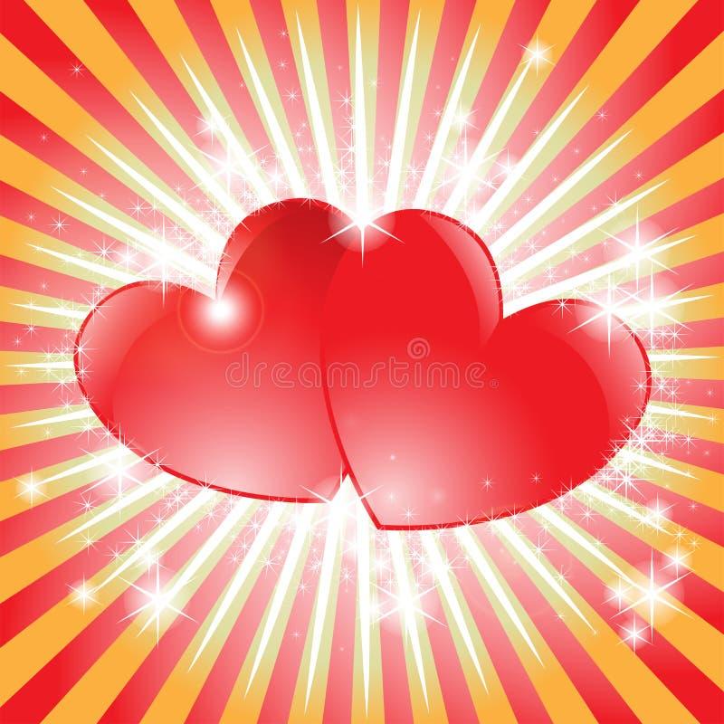 Λαμπιρίζοντας καρδιά διανυσματική απεικόνιση