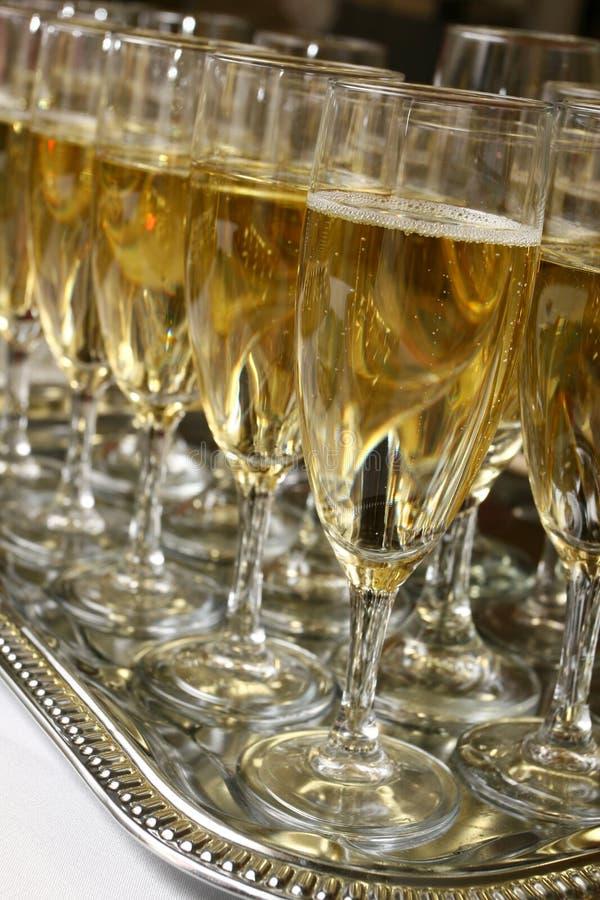 λαμπιρίζοντας κρασί συμβαλλόμενων μερών στοκ εικόνα