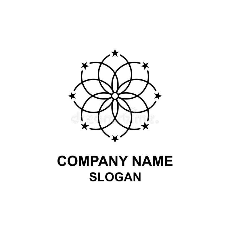 Λαμπιρίζοντας λογότυπο αστεριών απεικόνιση αποθεμάτων