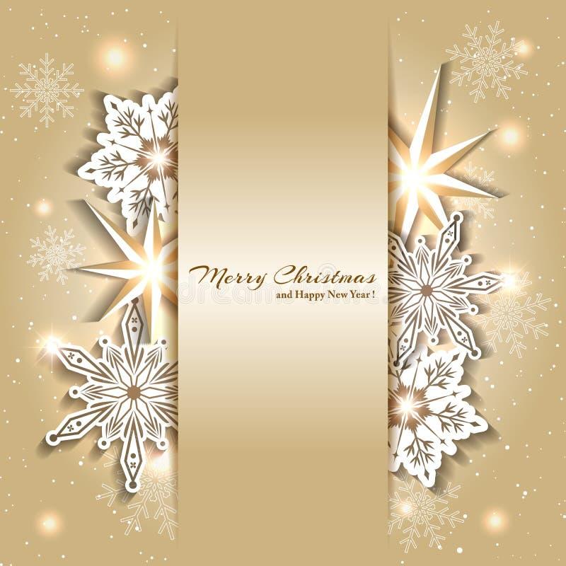 Λαμπιρίζοντας υπόβαθρο Χριστουγέννων με Snowflake ελεύθερη απεικόνιση δικαιώματος