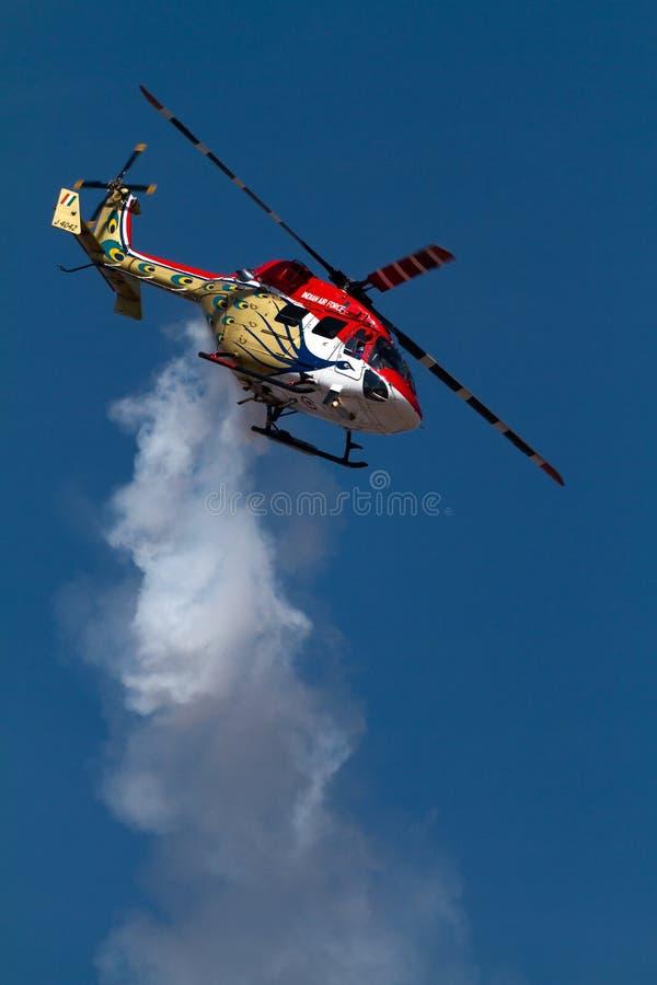 λαμπρά ελικόπτερο που χρ&om στοκ εικόνες