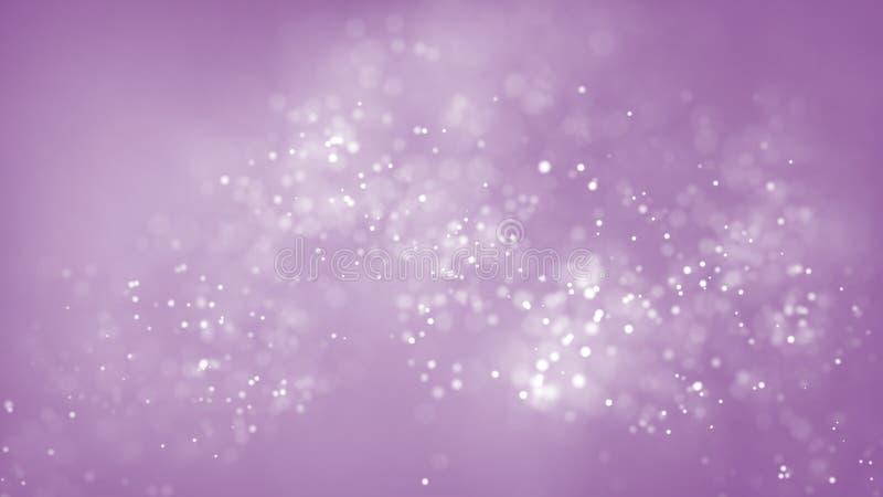 Λαμπρά επιπλέοντα bokeh μόρια στο ρόδινο υπόβαθρο Αφηρημένο μαλακό χιονίζοντας υπόβαθρο διανυσματική απεικόνιση