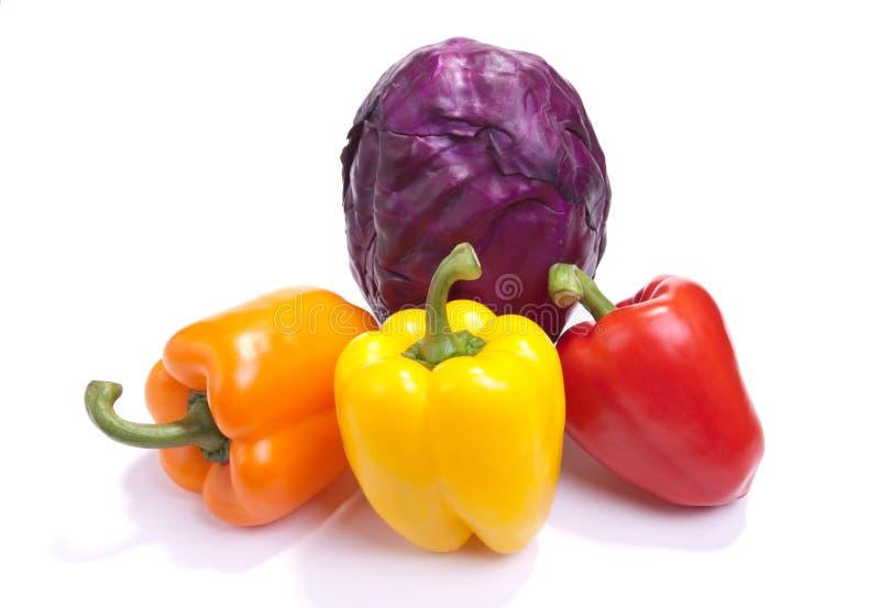 λαμπρά χρωματισμένος veg στοκ εικόνες