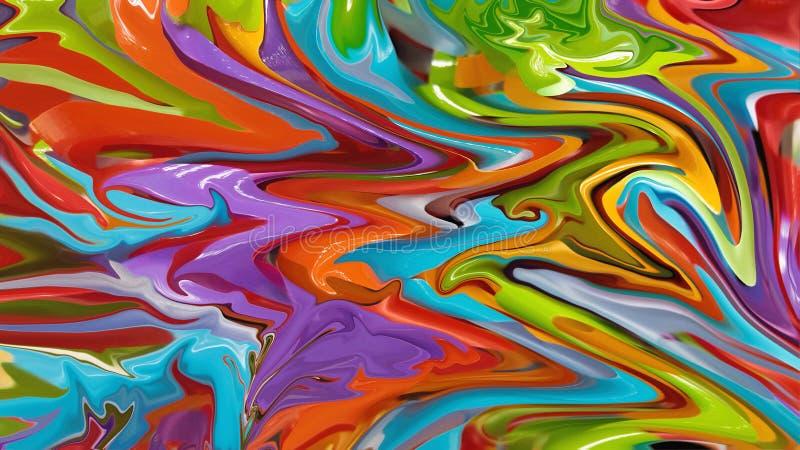 Λαμπρά χρωματισμένο αφηρημένο υπόβαθρο κομμάτων απεικόνιση αποθεμάτων