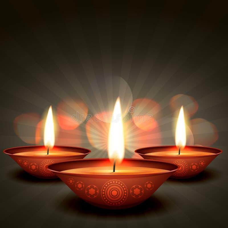 Λαμπρή ανασκόπηση diwali ελεύθερη απεικόνιση δικαιώματος