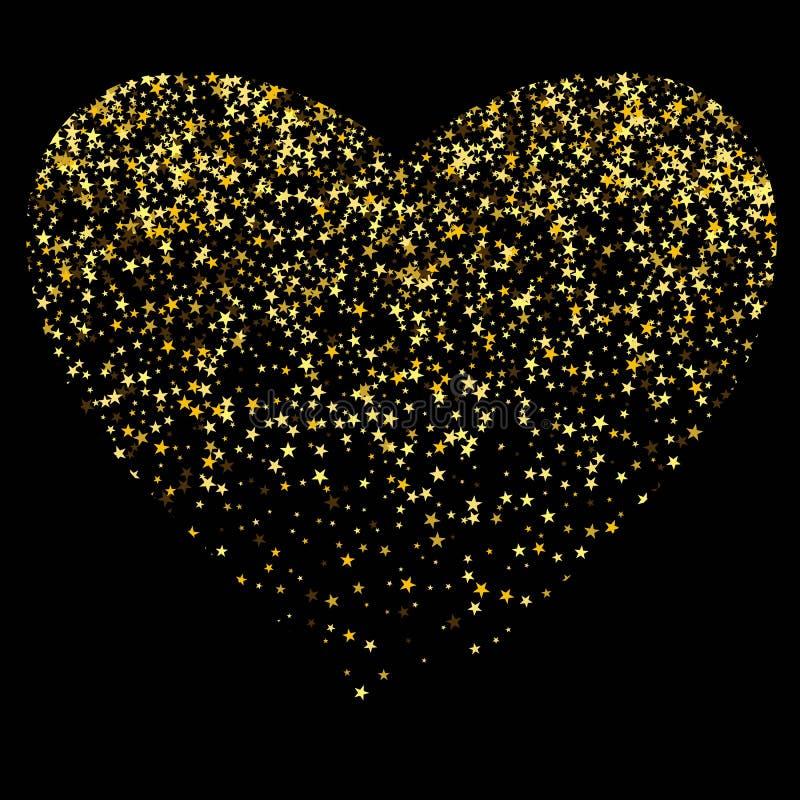 Λαμπρή καρδιά για τις διακοπές Αγάπη Ημέρα βαλεντίνων s ρωμανικός 10 eps απεικόνιση αποθεμάτων