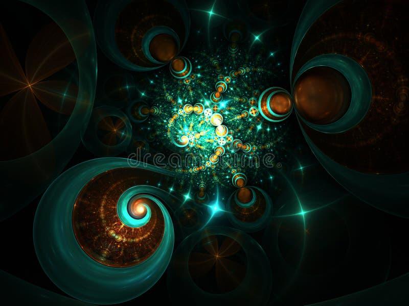 Λαμπροί ατελείωτοι γαλαξίες στο μακρινό διάστημα διανυσματική απεικόνιση