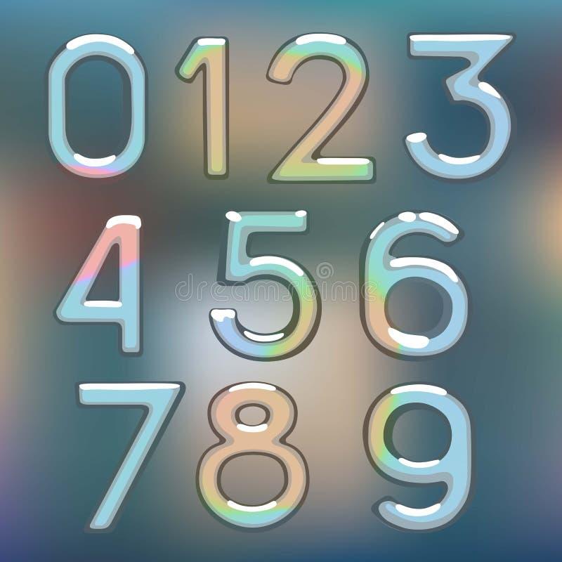 Λαμπρός αριθμός μετάλλων σχεδίων ψηφίων αριθμών διανυσματική απεικόνιση