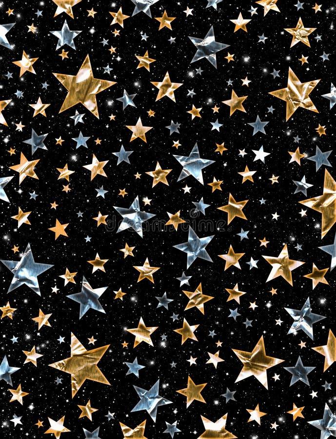 λαμπρό αστέρι πεδίων διανυσματική απεικόνιση