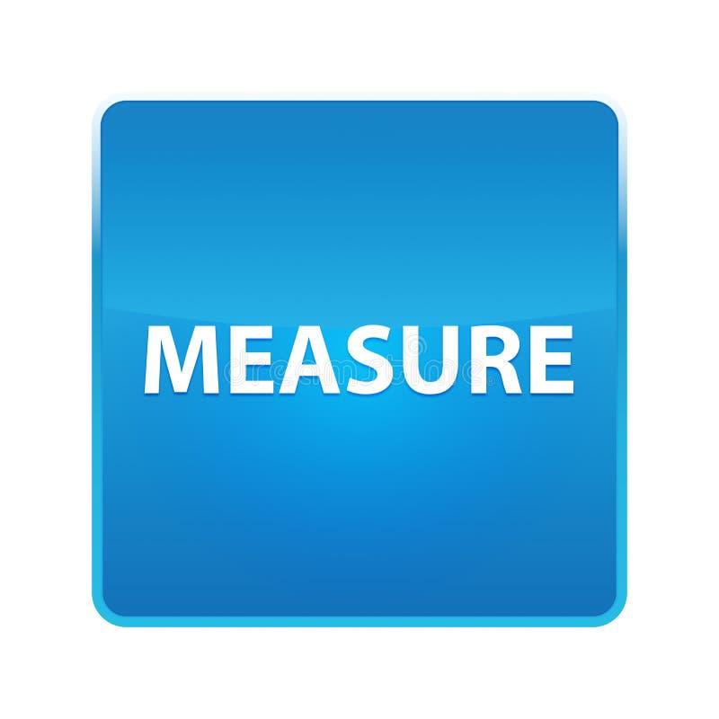 Λαμπρό μπλε τετραγωνικό κουμπί μέτρου ελεύθερη απεικόνιση δικαιώματος