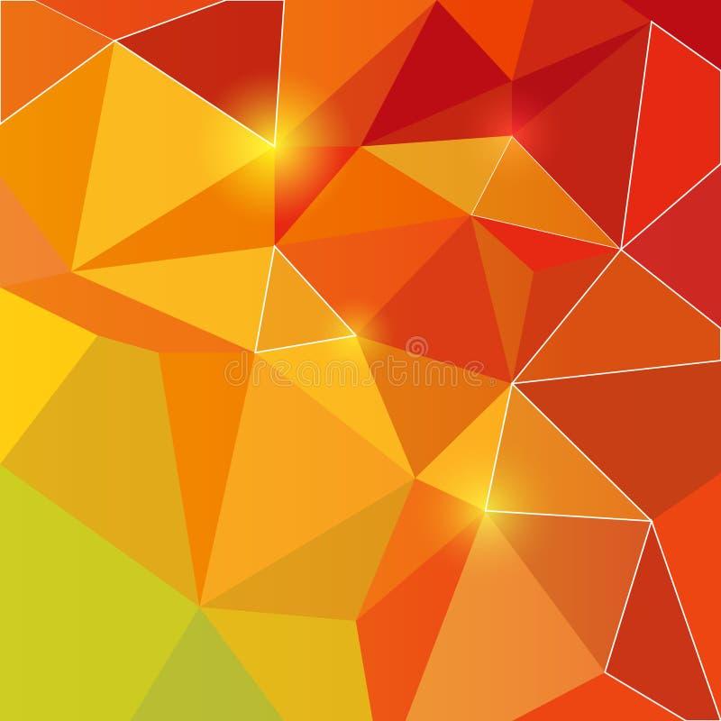 Λαμπρό πορτοκάλι τριγώνων backround απεικόνιση αποθεμάτων
