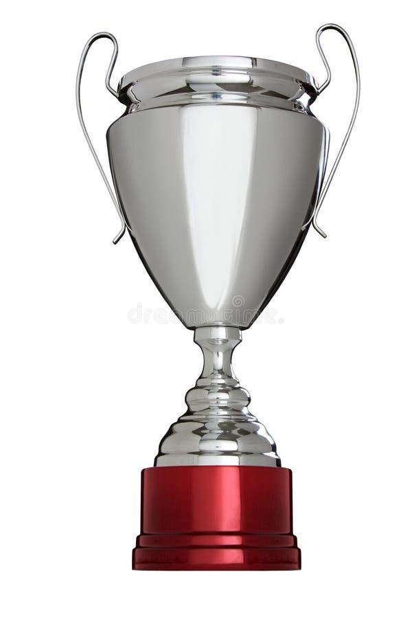 Λαμπρό φλυτζάνι βραβείων που απομονώνεται στο άσπρο υπόβαθρο στοκ φωτογραφία με δικαίωμα ελεύθερης χρήσης