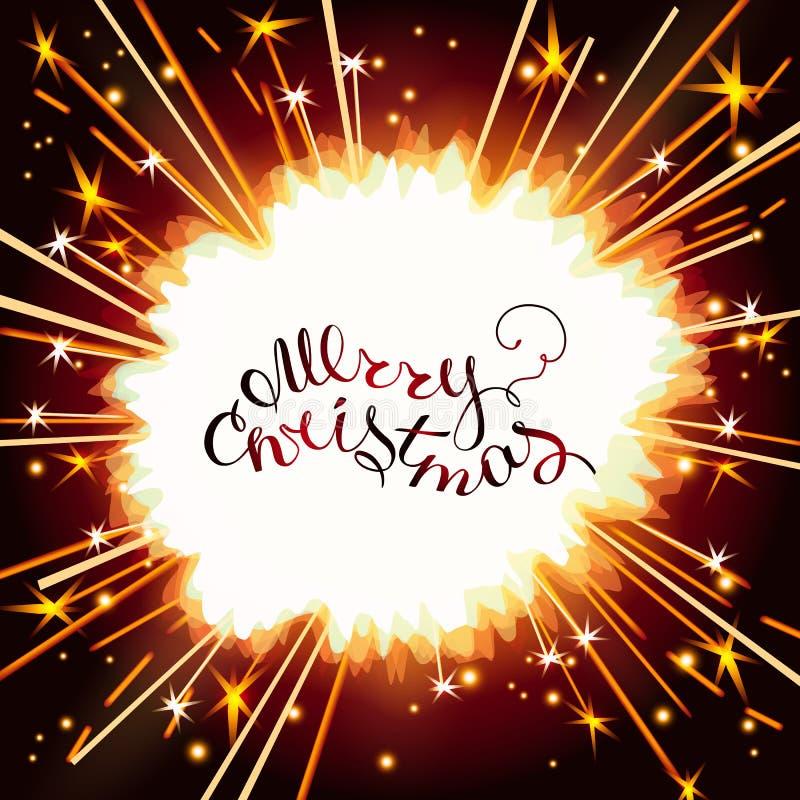 Λαμπρό φως sparkler απεικόνιση αποθεμάτων