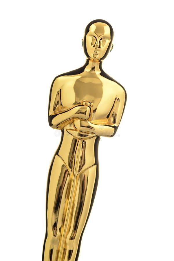 Λαμπρό χρυσό Statuette στοκ φωτογραφίες με δικαίωμα ελεύθερης χρήσης