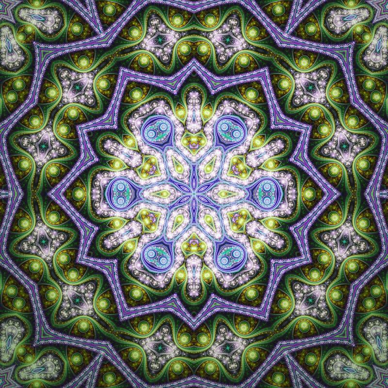Λαμπρό fractal mandala ελεύθερη απεικόνιση δικαιώματος